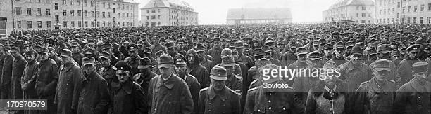 World war 2, german pows in berlin, germany, 1945.
