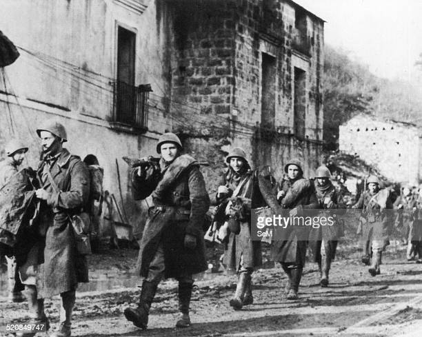 World War 2 in Italy 1943Italian soldiers marching in the Balkans after the news of the armistice with the Allies
