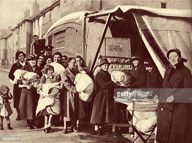 World War 2 information book - Entitled: Front Line 1940- 41, The Official Story of the Civil Defence of Britain. Picture caption: ' A mobile laundry...