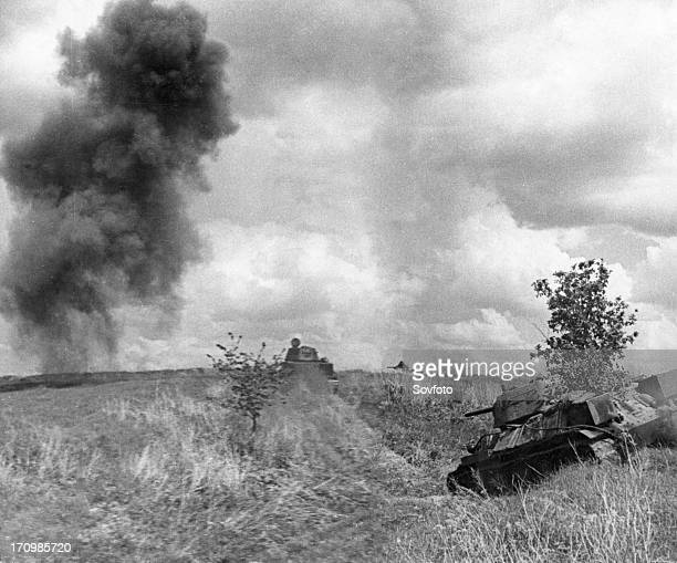 World war 2 june 1943 soviet tanks are deploying in order to resist enemy counterattack