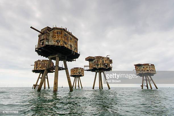 CONTENT] World War 2 sea forts anti aircraft gun Shivering Sands off the North Kent coast near Herne Bay/Whitstable UK abandoned decay