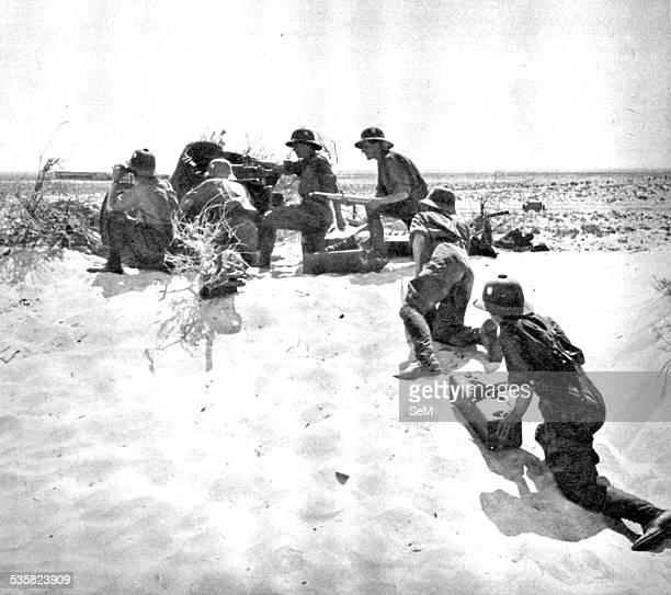 World War 2 The Desert War 19401943 Afrika Korps german soldier in action in the desert The Western Desert Campaign or the Desert War took place in...