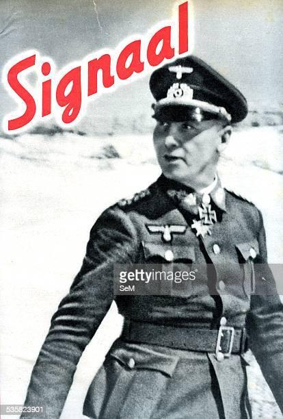 World War 2 The Desert War 19401943 Erwin Rommel commander of Afrika Korps Signal magazine cover 1941 The Western Desert Campaign or the Desert War...