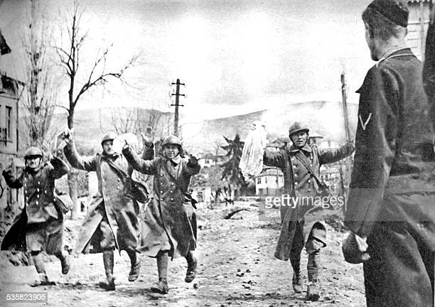 World War 2 Yugoslavian soldiers surrender after heavy fighting with German Wehrmacht April 1941 Signal magazine The invasion of Yugoslavia also...