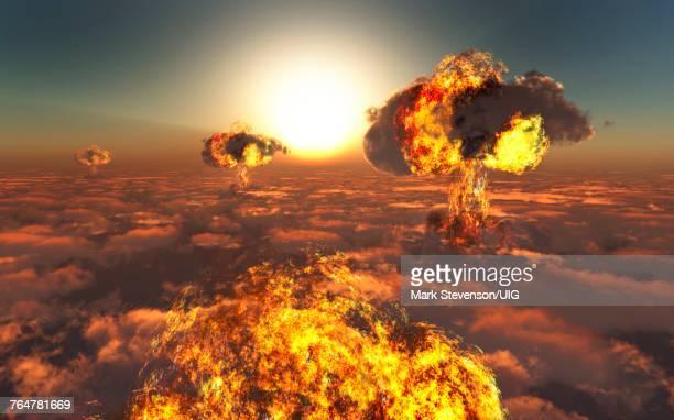 world war 3 - cinza nuclear - fotografias e filmes do acervo