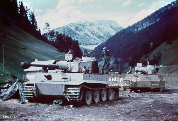2 World War german occupation of Italy 'Fall Achse' heavy tanks Tiger I ready for entering into northern italy about 08Sept 1943