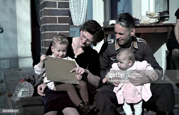 2 World War germany during Corporal of an air force AAUnit during furlough with his familiy 1943