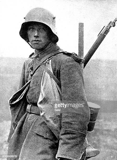World War I 1914 1918 Germany at war Western front Young soldier belonging to the German assault troops Sturmtruppen