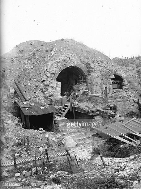 World War I Advancing in Verdun Entrance of Fort Souville 1919