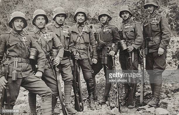 World War I. Austrian soldiers. In January 1918.