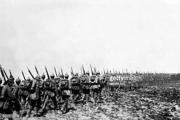World War I Battle of Tannenberg / East Prussia German infantry in advance August 1914