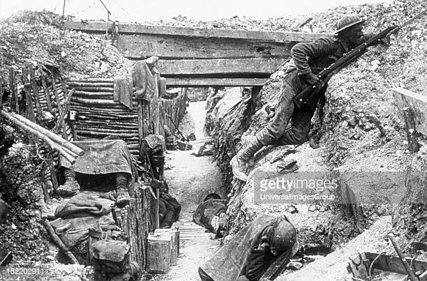 World War I Battle of the Somme fought between the German army and FrancoBritish troops British trenches Men of the 11th battalion The Cheshire...