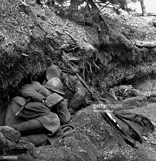 World War I Battle of Verdun French trench 1916