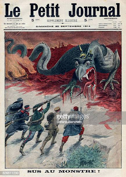 World War I, Death to the Monster : The allies, France, England, Serbia, Russia and Belgium, join forces against Germany and Austria. Frontpage of...