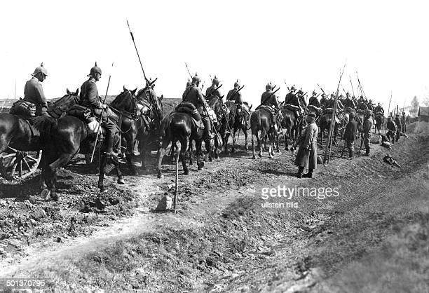 German Cuirassier cavalry squadron in the Rominter Heath next to the border to Russia Photo Kuehlewindt
