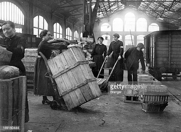 World War I Female railroad employees France