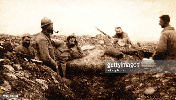 World War I In a French trench In April 1916