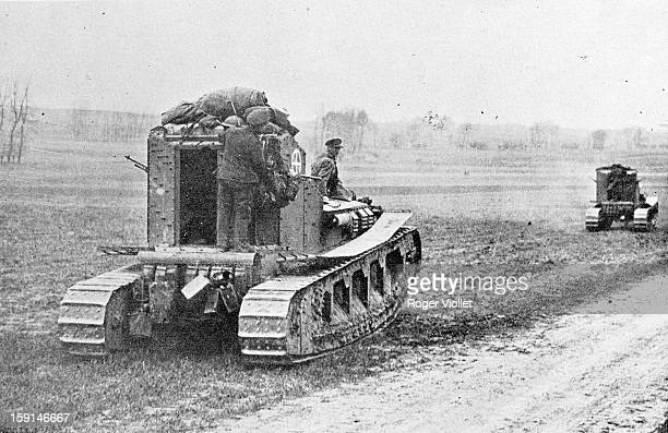 World War I, Mark A Whippet tanks of the British Army.