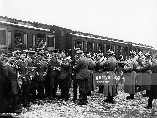 reserves before the departure from a railway station in Berlin probably in autumn 1914