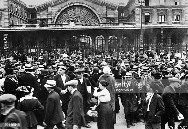 World War I Mobilization Paris Gare de l'Est August 2 1914