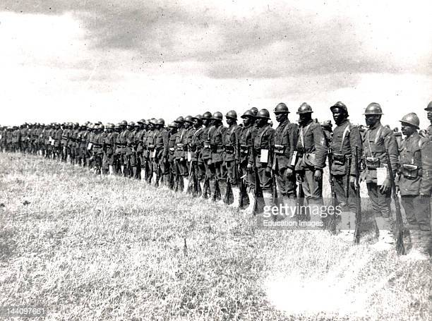 World War I Negro Troops In France Picture Shows Part Of The 15Th Regiment Infantry New York National Guard Organized By Colonel Haywood Which Has...