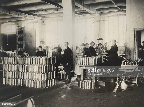 World War I Peugeot factory of Beaulieu requisitioned for the manufacture of shells Ca 1915