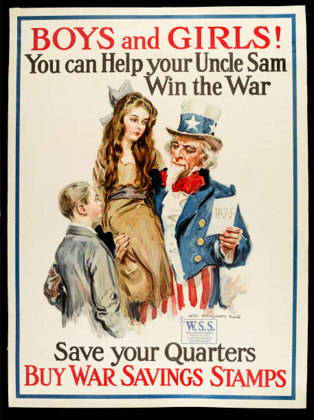 Boys And Girls! You Can Help Your Uncle Sam Win The War Poster