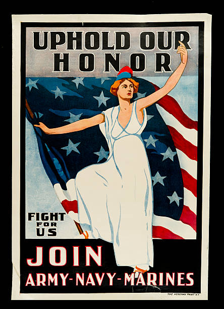 Uphold Our Honor, Fight For Us, Join Army, Navy, Marines Poster