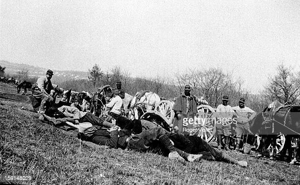 World War I, Retreat of the French army after the first Battle of the Marne, 1914.