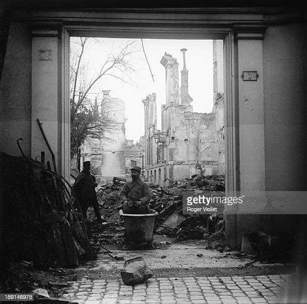 World War I Rue SaintSymphorien in Reims November 16 1915