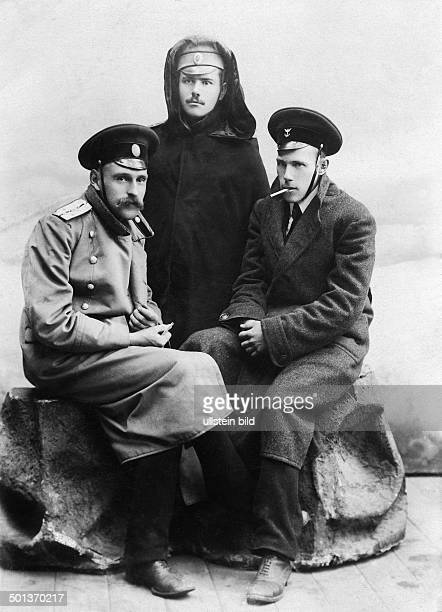 two Russian aviators and an engineer undated probably in 1915/1916