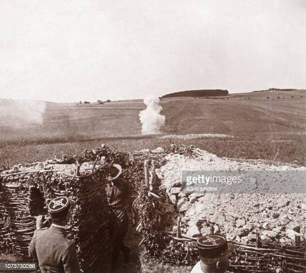 World War I, Shooting near Mauvages . Ca. 1918.