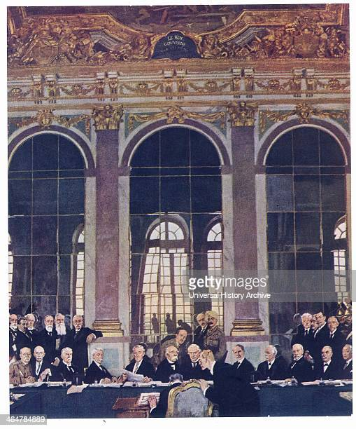 Signing Treaty of Versailles in the Hall of Mirrors 28 June 1919 After the painting by William Orpen