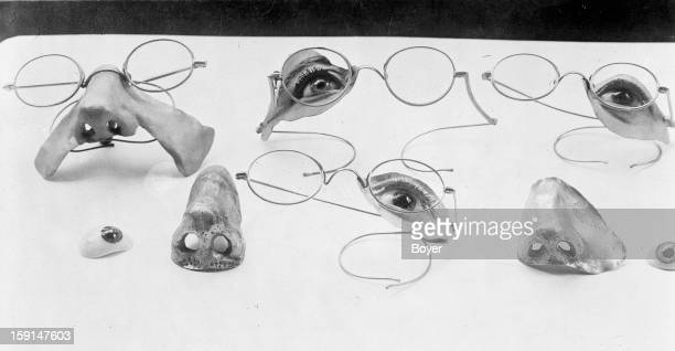 World War I Specimens of facial prostheses intended for the wounded persons on 1918