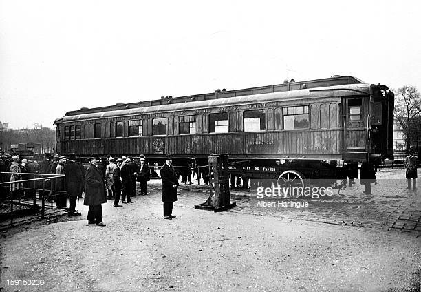 World War I The train carriage where the armistice of November 11 1918 was signed in Rethondes exhibited in the Invalides courtyard in Paris