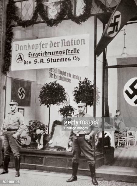 World War I veterans register for the SA Germany 1938 Founded in c1919 the Sturmabteilung was the paramilitary wing of the Nazi party Its members...