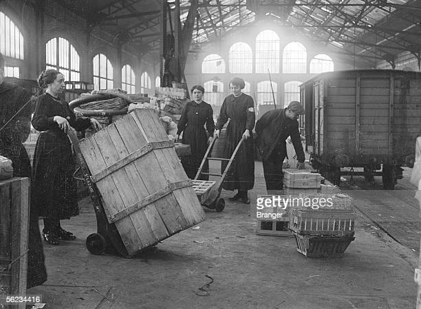 World War I. Women employed in railways. France.