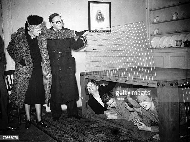 World War II 11th February 1941 London England Mrs Clementine Churchill wife of British Prime Minister Winston is pictured with Herbert Morrison...