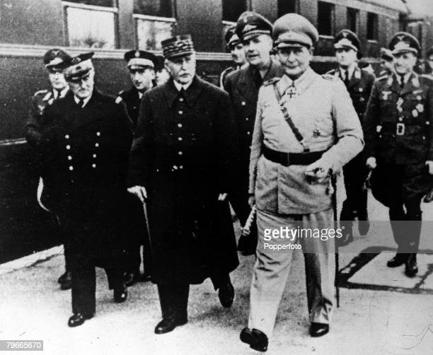 World War II 15th December 1941 St Florentine A picture of the meeting between Vichy and Nazi Chiefs where they discussed the handing over of Vichy...