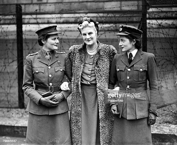 World War II 18th January 1944 London England Clementine Churchill wife of Prime Minister Winston Churchill is pictured with her service girl...