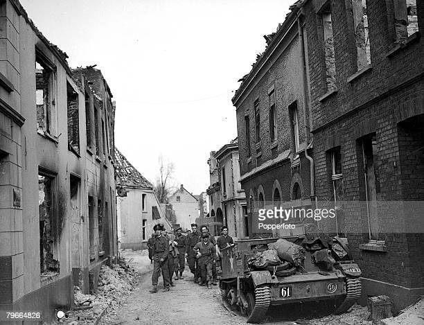 World War II 4th April 1945 British troops in Rees Germany after crossing Rhine