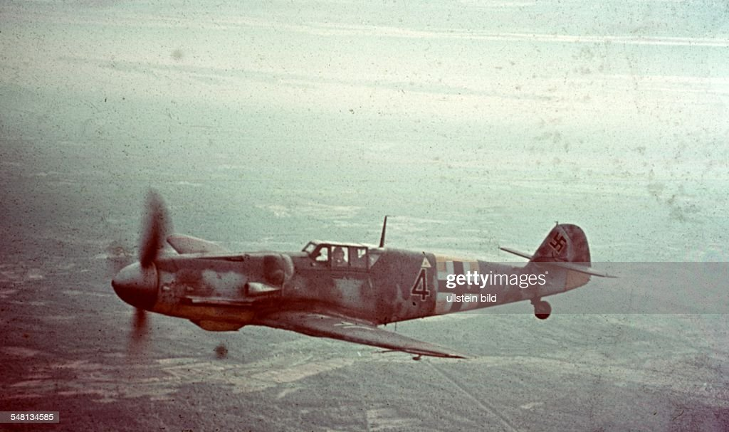World War II A Me 109 fighter plane of the German air force in