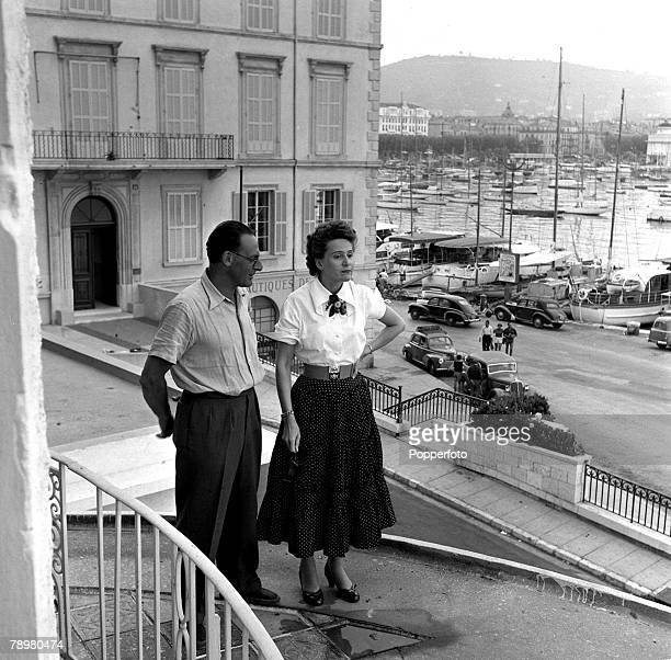 1953 World War II agents Captain Peter Churchill and his wife Odette revisit Cannes the house behind them held their headquarters