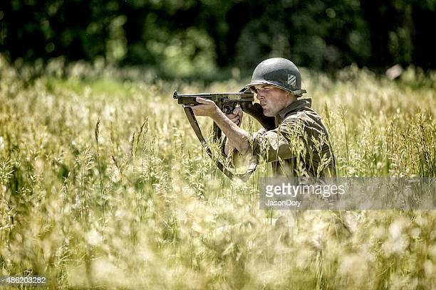 World War II Army Soldier in an Field