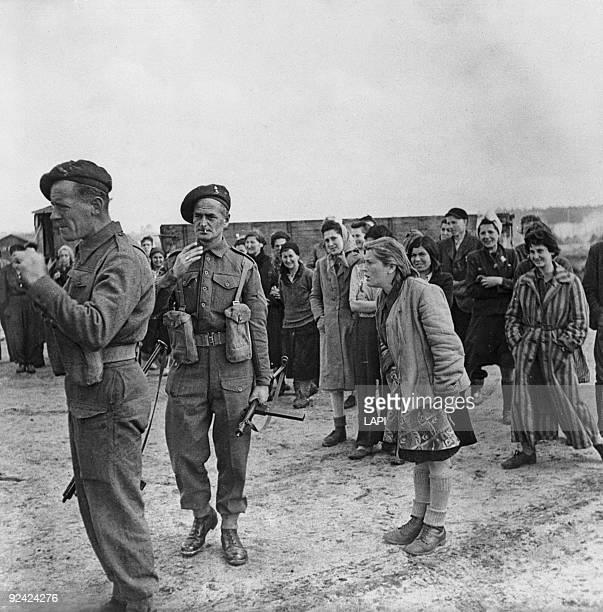 World War II Arrival of Alliés at the BergenBelsen concentration camp April 1945