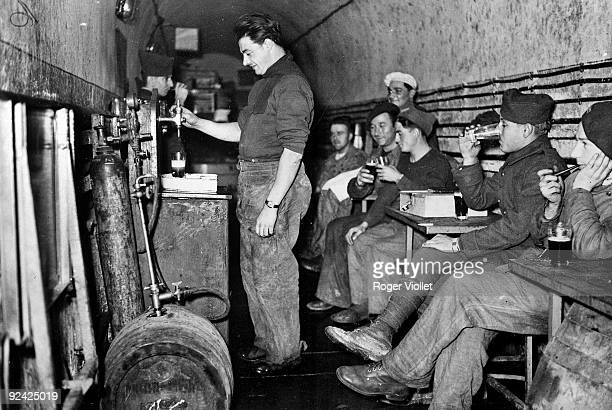 World War II Bar settled in an underground passage of the Maginot Line December 1939