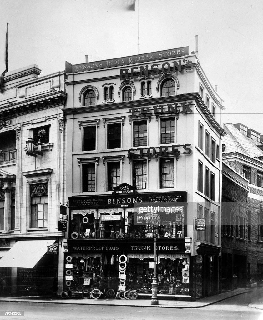 Circa 1930s Bensons Store On A Corner At Tottenham Court Road London Taken