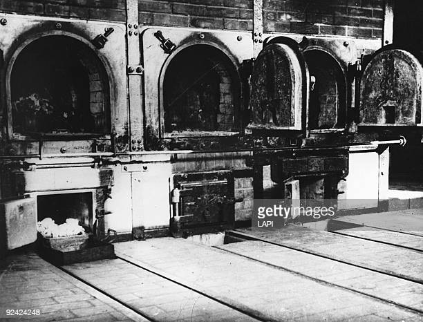 World War II. Buchenwald concentration camp . The ovens.