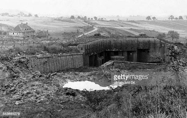 World War II Campaign against France destroyed bunker at the Maginot Line Photographer Paul Mai 1940Vintage property of ullstein bild