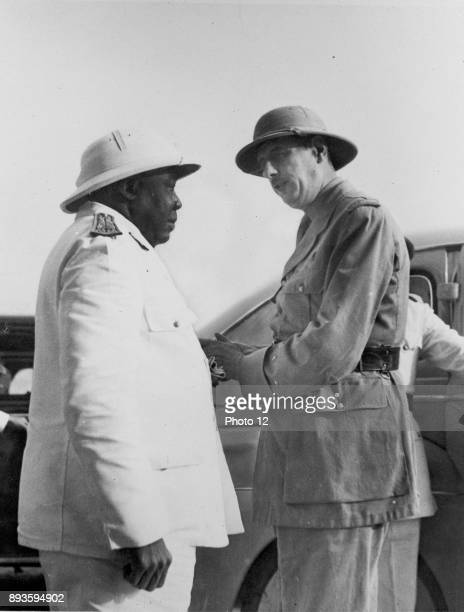 World War II Charles de Gaulle chief of the Free French is welcomed to Chad by GovernorGeneral Felix Eboue Eboue a native of French Guinea was the...